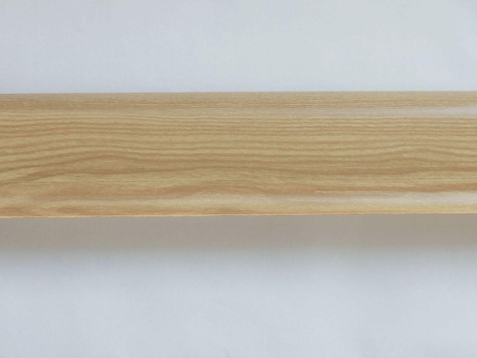 Soklová lišta PVC, SALAG NGF 56 mm, Dekor jilm