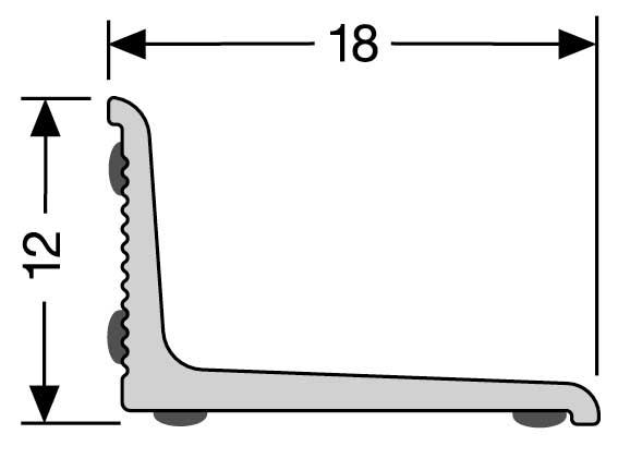 Stěnová ukončovací lišta, samolepící, 18x12 mm, 0,9 m, bílá